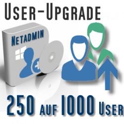 Upgrade von 250 auf 1000 User