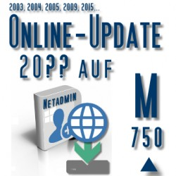 Online-Update 2007 auf 2015 (M 750 User)